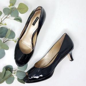 ALEX MARIE Peep Toe Patent Leather Heels 8.5